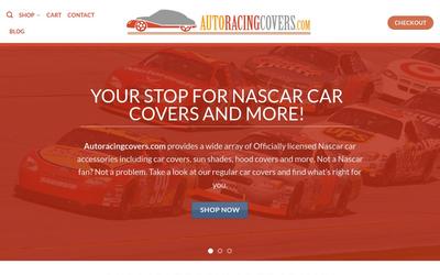 Auto Racing Covers website