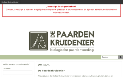 de Paardenkruidenier website