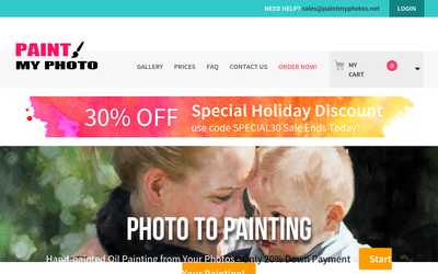 Paint My Photos website
