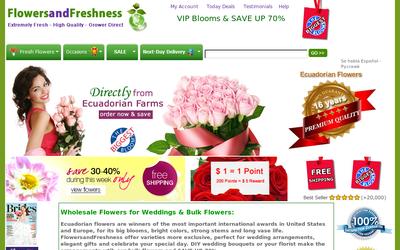 FlowersandFreshness.com website