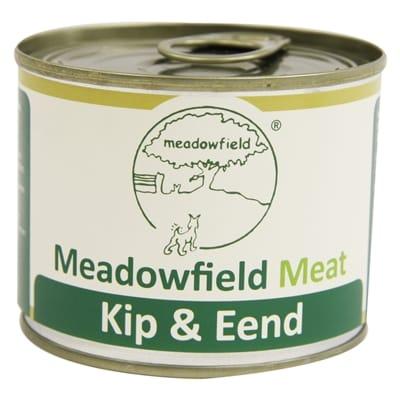 Meadowfield meat blik kip eend 200 gr