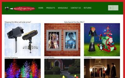 Holidayprojectors.com website