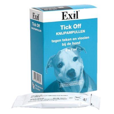 Exil hond tick off knijp ampul