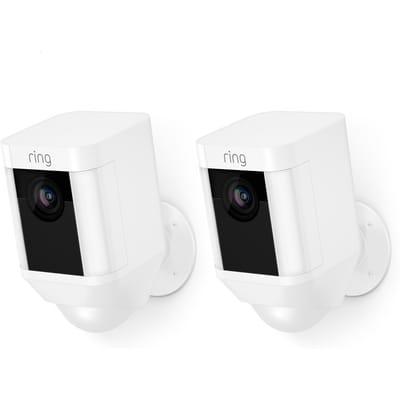 Ring Spotlight Cam Beveiligingscamera Met batterij Wit 2 stuks