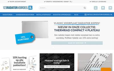 123 radiator voordeel website