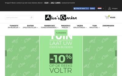 Alice's Garden website