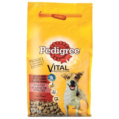 Pedigree Droog Adult Mini Rund 1.5 Kg