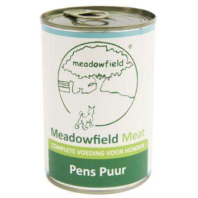 Meadowfield meat blik pens puur 400 gr