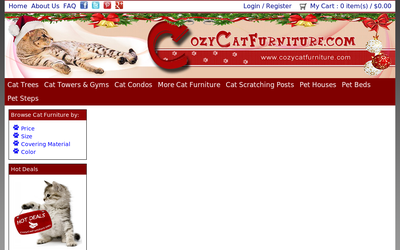 Cozycatfurniture.com website