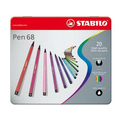 Stabilo Pen 68 in metalen doos