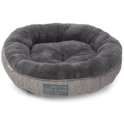 House of paws kattenmand donut hessian grijs