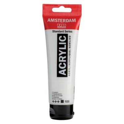Amsterdam acrylverf tube Titaanwit 120 ml