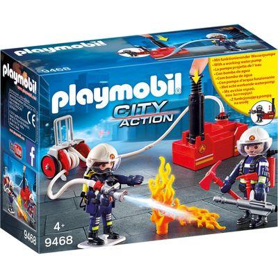 Playmobil 9468 brandweerteam met waterpomp