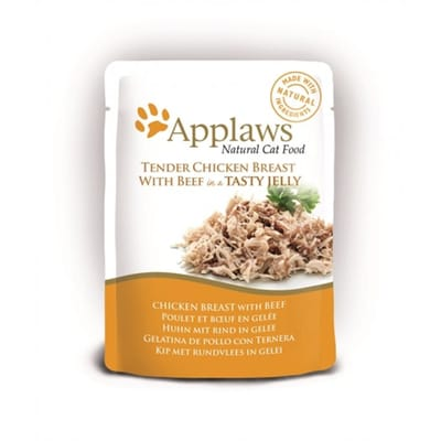 Applaws cat jelly chicken beef