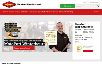Motoport Hippolytushoef website