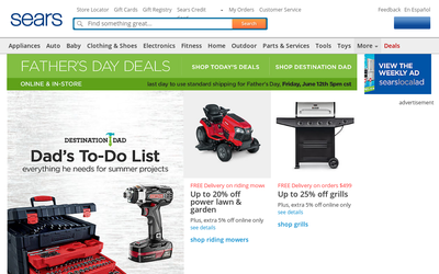 Sears.com website
