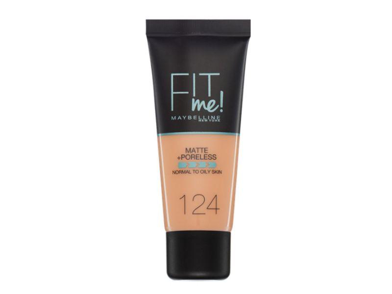 Maybelline Fit Me Matte Poreless Foundation 124 Soft Sand