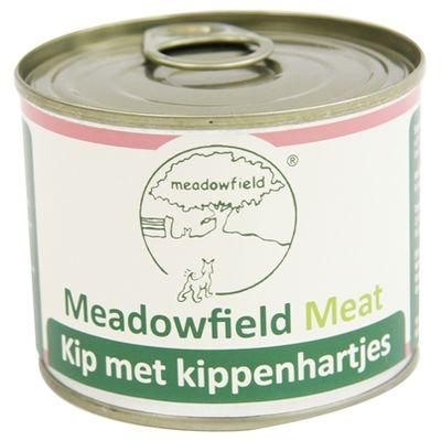 Meadowfield Meat Blik Kip Kippenhart 200 Gr