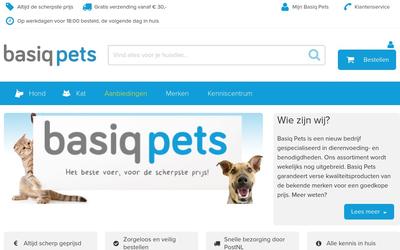 BasiqPets.nl website
