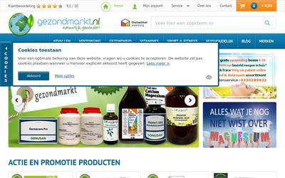 Gezondmarkt website