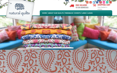 Natural Quilts website