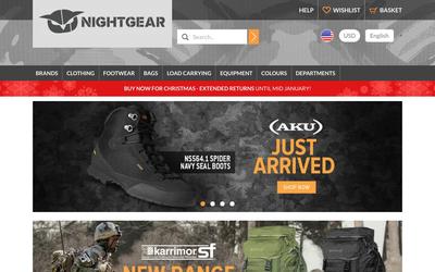 Nightgear Store website