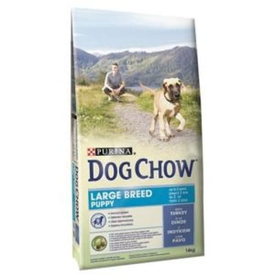Dog Chow Puppy Large Breed Kalkoen 14 kg