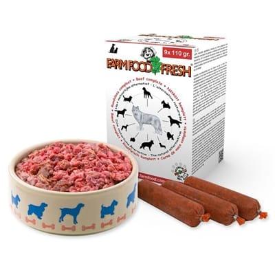 Farm food rundvlees compleet worst 9x110 gr