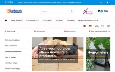 123vloerdiscounter.nl website
