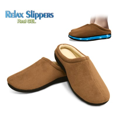 Relax Gel Slippers Brown Size S (36-38)