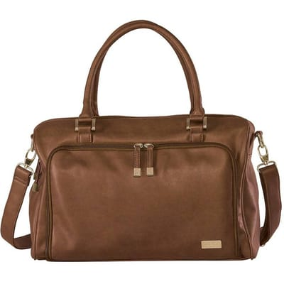 Isoki Double Zip Satchel Chestnut Redwood