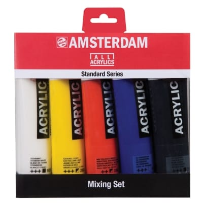 Amsterdam acrylverf 5 tubes 120 ml in