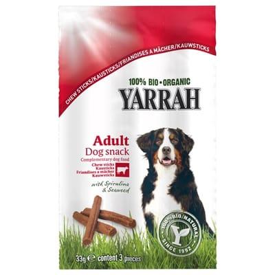 Yarrah biologische kauwstaafjes hond rund met zeewier en spirulina 33 gr