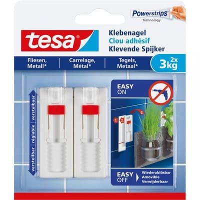 Tesa klevende spijker metaal en tegel