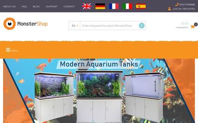 MonsterShop website
