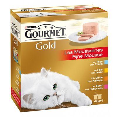 Gourmet Gold Fijne Mousse 8 x 85 gr