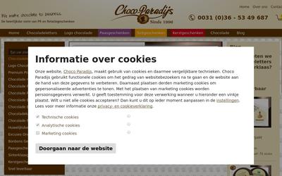 Chocolade Paradijs website