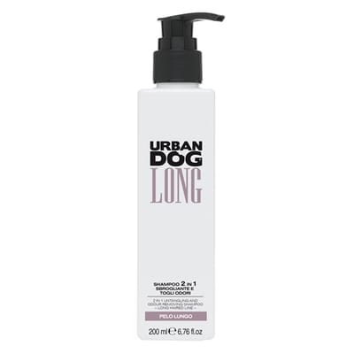 Urban dog antiklit en geurverwijderende 2 in 1 shampoo voor lange vacht