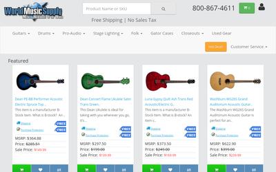 World Music Supply website