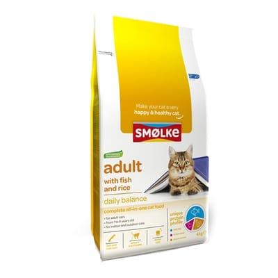 Smolke Kattenvoer Adult Vis - Rijst 4 kg