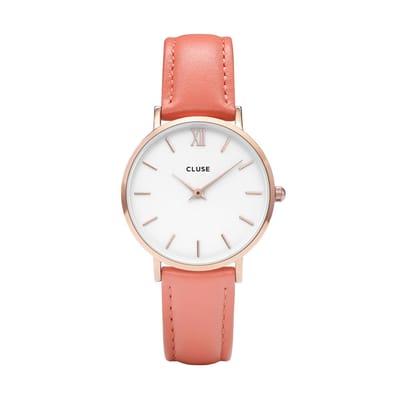CLUSE Minuit Rose Horloge CL30045 Flamingo