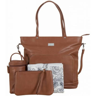 Isoki Nappy Tote Chestnut Redwood