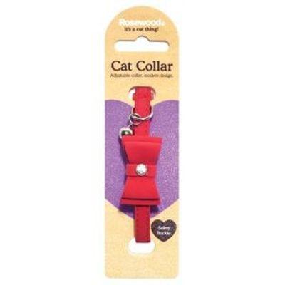 Kattenhalsband Strik Rood CM 24 x