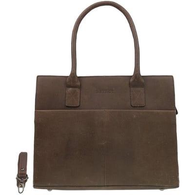 DSTRCT Flestcher Street Womens Business Laptopbag inch brown