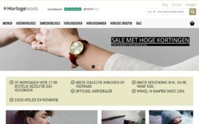 Horlogeloods website