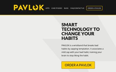 Pavlok website