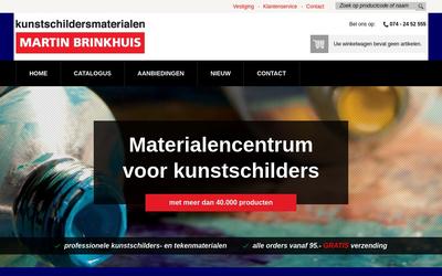 martin brinkhuis kunstenaarsbenodigdheden b.v. website