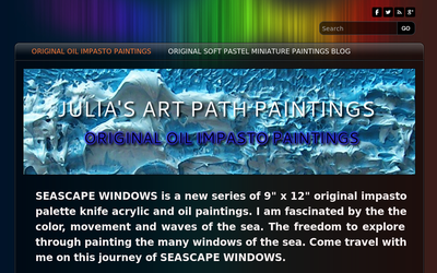 Julia's Art Path Paintings website