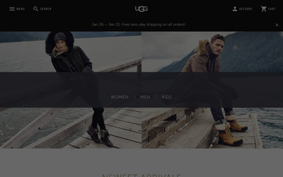 Ugg website