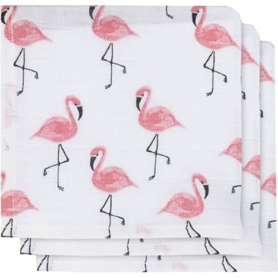 Jollein Hydrofiele monddoekjes Flamingo